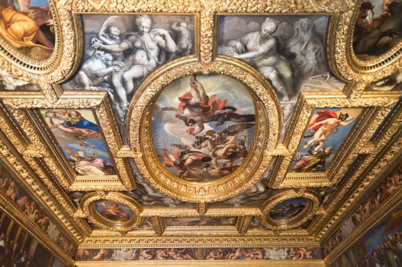 Techo del palacio del dux imágenes de archivo libres de regalías
