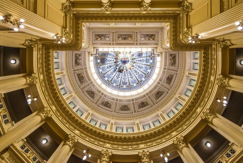 Techo del senado argentino en el congreso nacional de la Argentina - Buenos Aires, la Argentina imagen de archivo libre de regalías