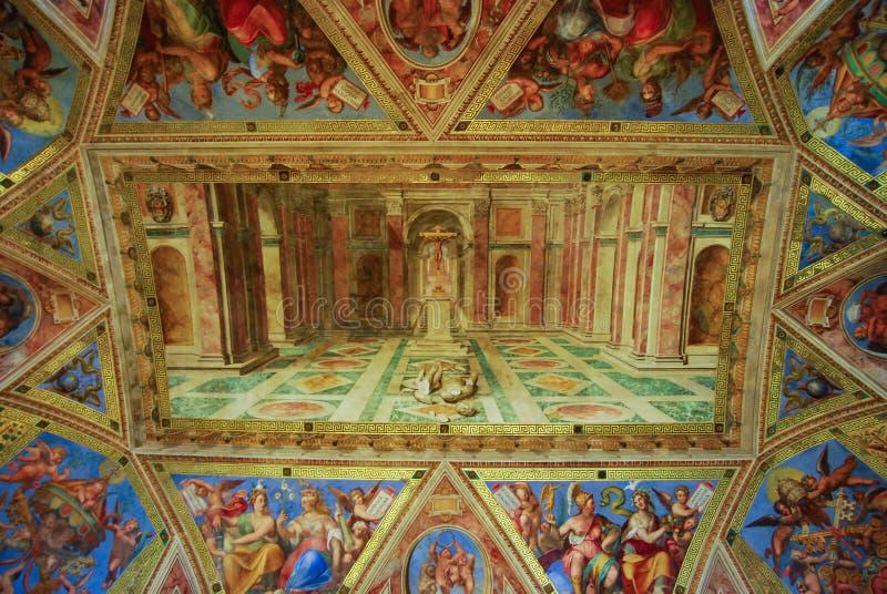 Techo en el museo del Vaticano, Ciudad del Vaticano, Italia fotos de archivo