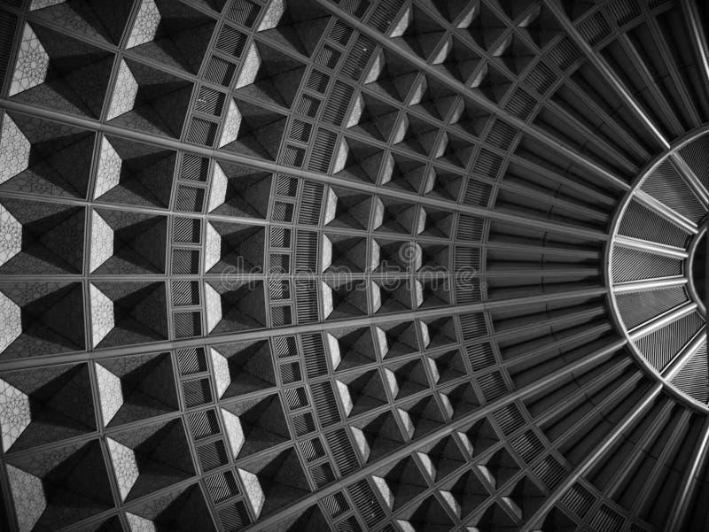 Techo en la estación de la unión imagenes de archivo