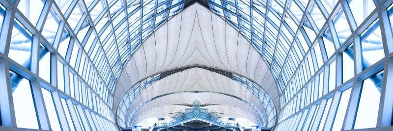 Techo gris del edificio de oficinas, panorama fotos de archivo