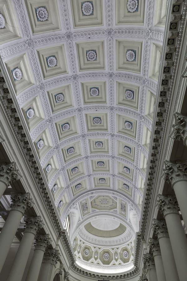 Techo interior de Del Santo de la basílica, San Marino fotografía de archivo