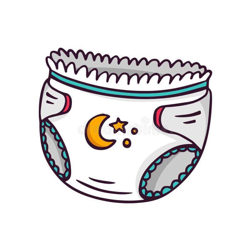 Tecido do bebê, ilustração brilhante das crianças do vetor no whi ilustração stock