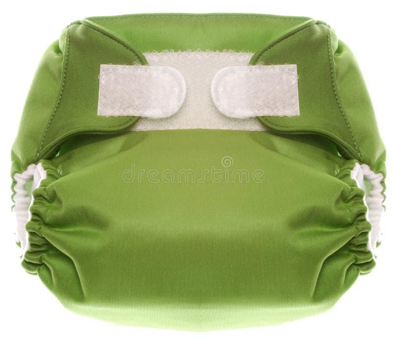Tecido verde de pano com fechamento do gancho e de laço fotografia de stock royalty free