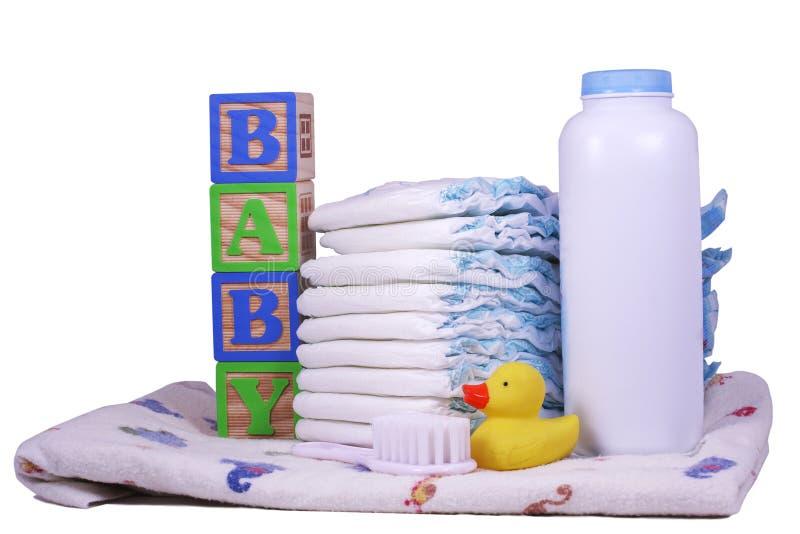 Tecidos do bebê foto de stock