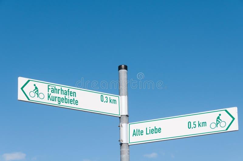 Tecken Alte Liebe Faehrhafen royaltyfria bilder