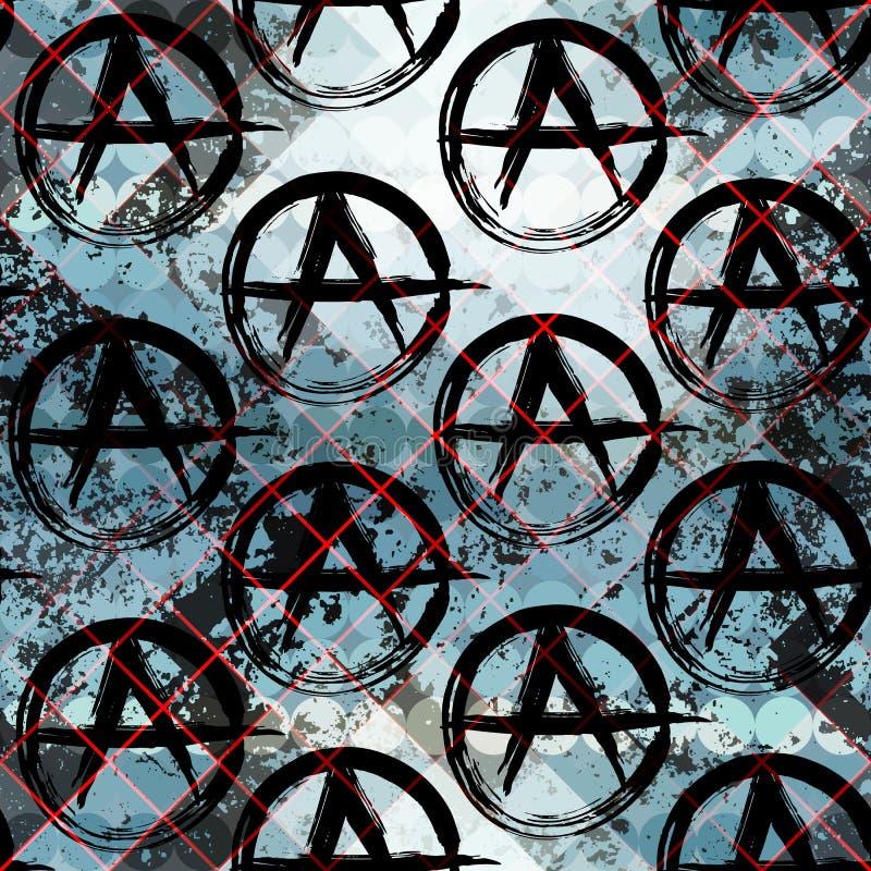 Tecken av anarki royaltyfri illustrationer