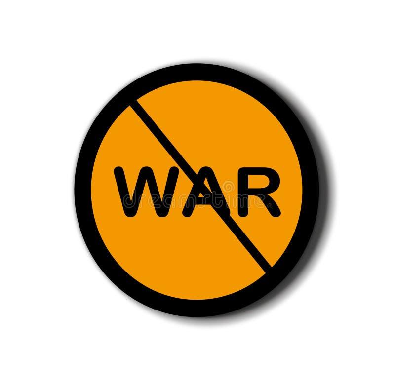 Tecken av anti--kriget med vit bakgrund vektor illustrationer