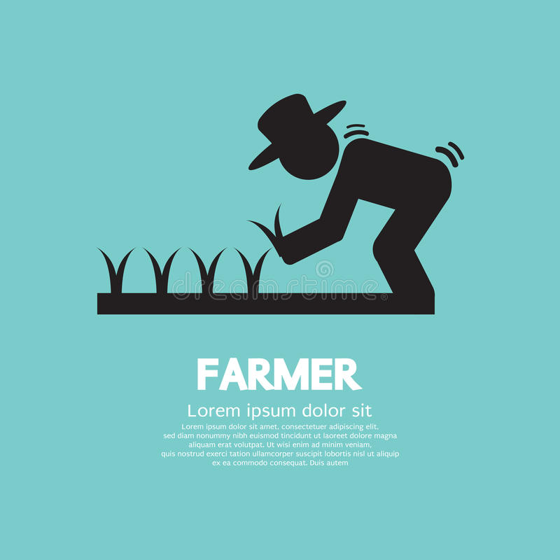 Tecken av bonden stock illustrationer