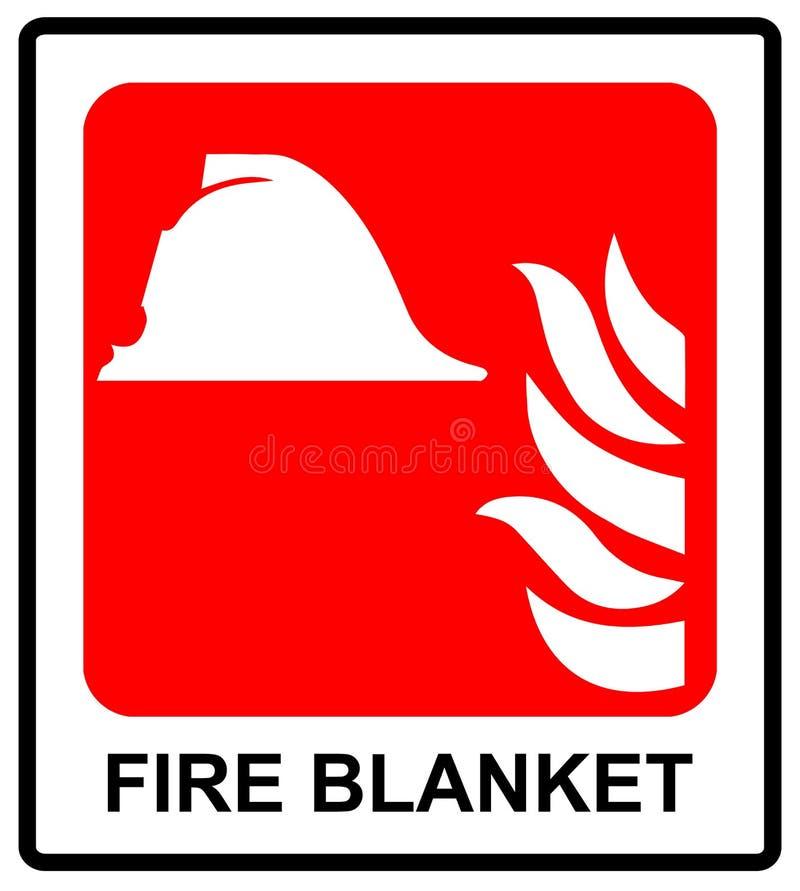 Tecken av brandfilttecknet Nöd- symbol för vektorillustration för offentliga ställen royaltyfri illustrationer
