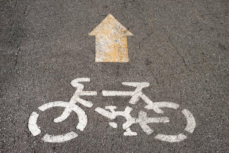 Tecken av cykelgränden royaltyfria foton