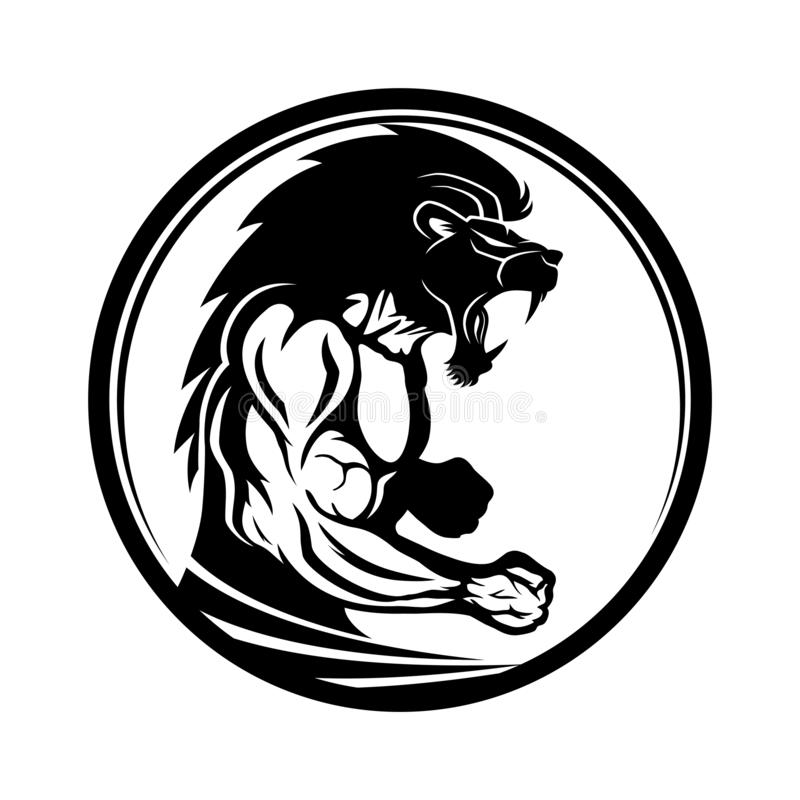 Tecken av den muskulösa idrottsman nenkämpen royaltyfri illustrationer