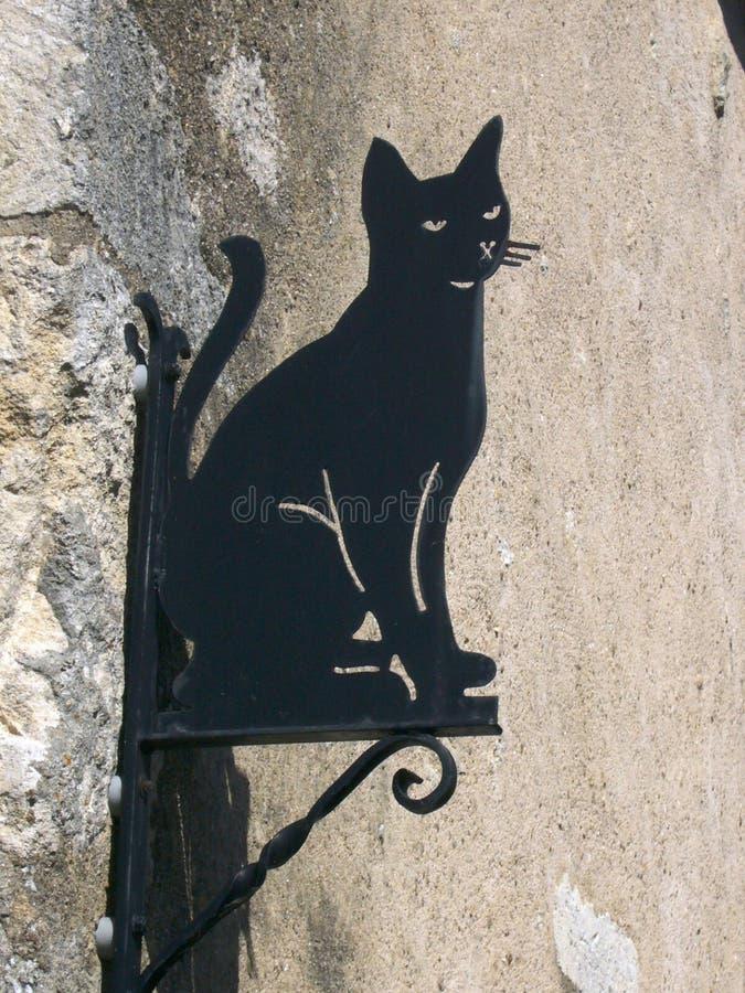 Tecken av en svart katt arkivbilder