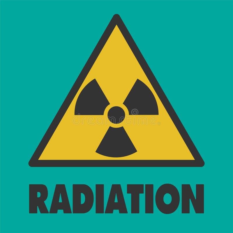 Tecken av fara av utstrålning En varning var kan formgivare varje f?r objektoriginal f?r evgeniy diagram sj?lvst?ndig kotelevskiy stock illustrationer