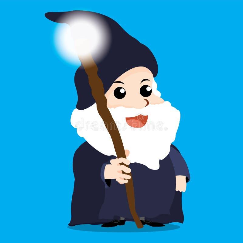 Tecken av Merlin stock illustrationer
