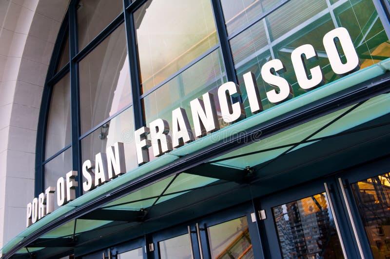Tecken av porten av San Francisco arkivbild