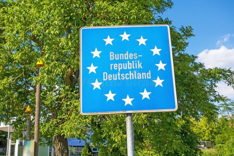 Tecken Europa/Bundesrepublik Deutschland royaltyfri bild