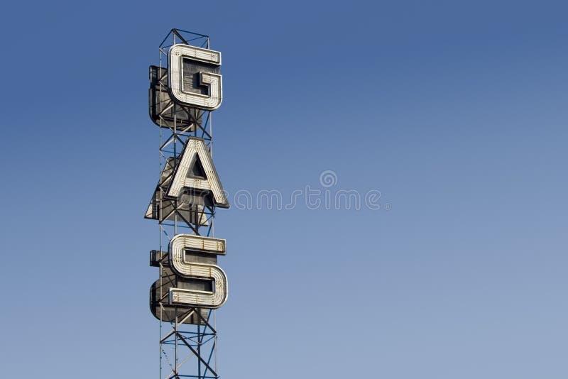 tecken för 3 gas royaltyfria foton