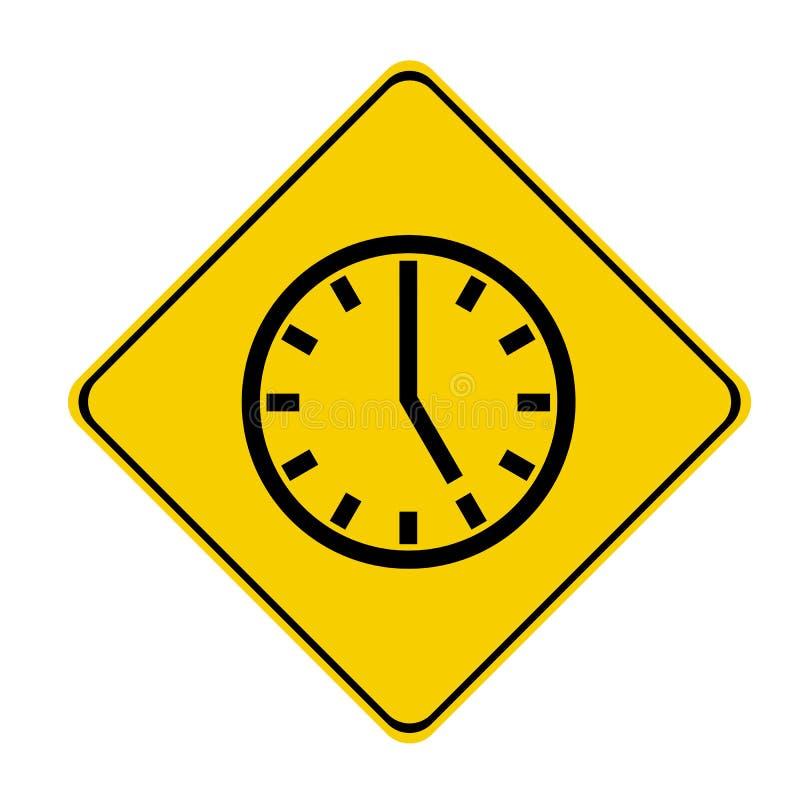tecken för 5 klocka o stock illustrationer