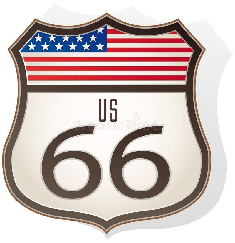tecken för 66 route royaltyfri illustrationer