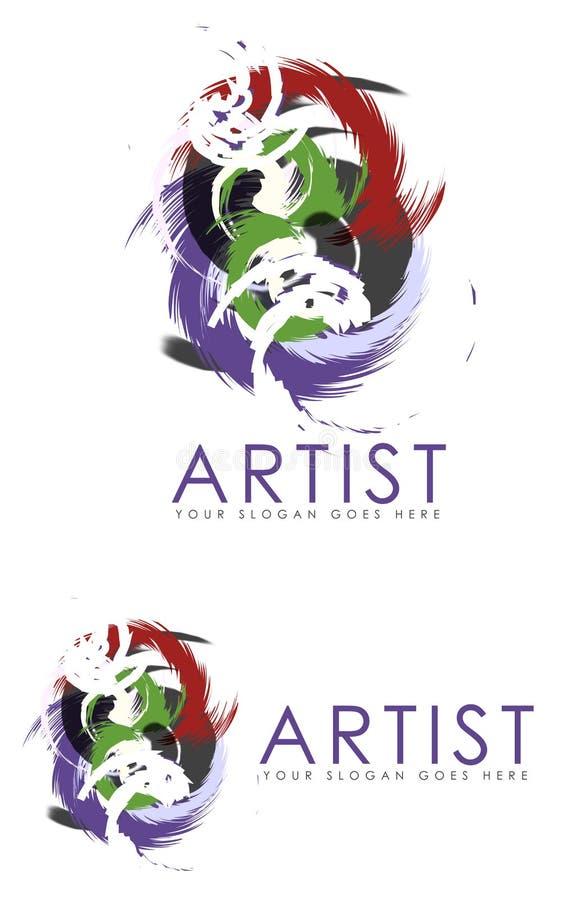 Tecken för abstrakt konstnär royaltyfri illustrationer