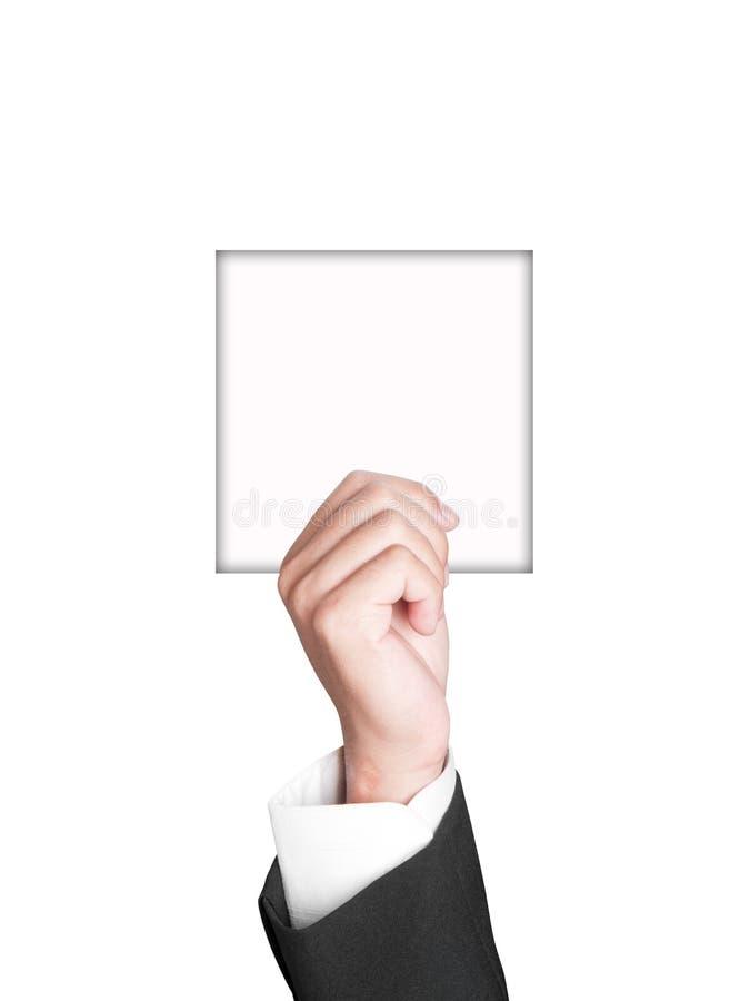 tecken för affärshandpapper royaltyfria bilder