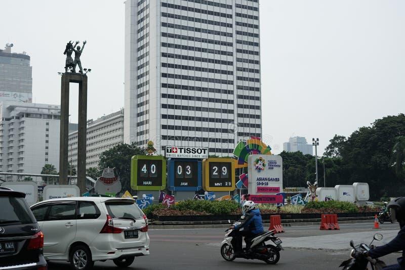 Tecken för asiatiska spelen 2018 royaltyfri fotografi