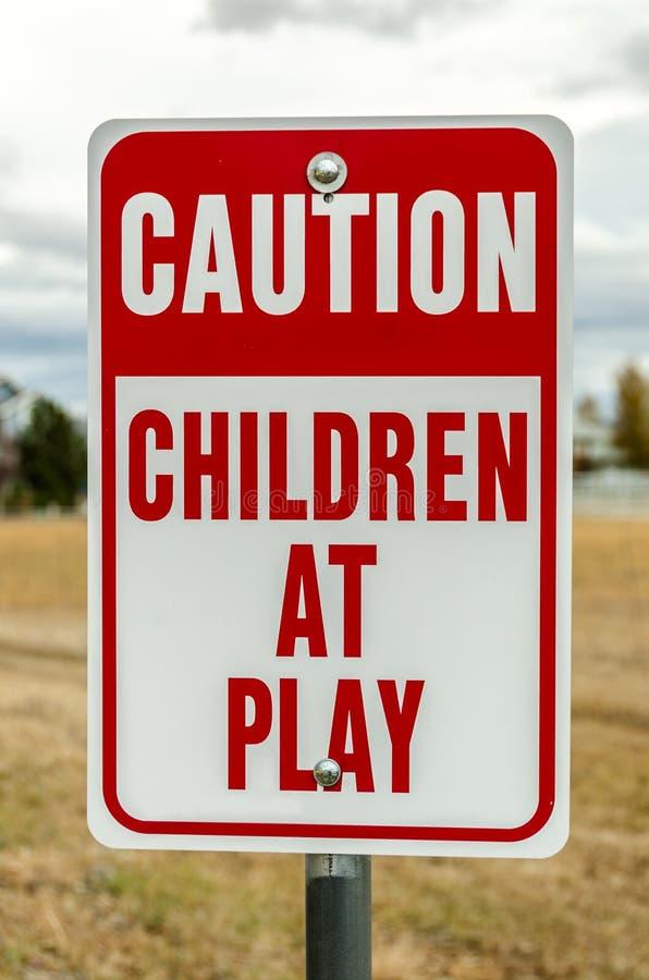 tecken för barnspelrum royaltyfri bild