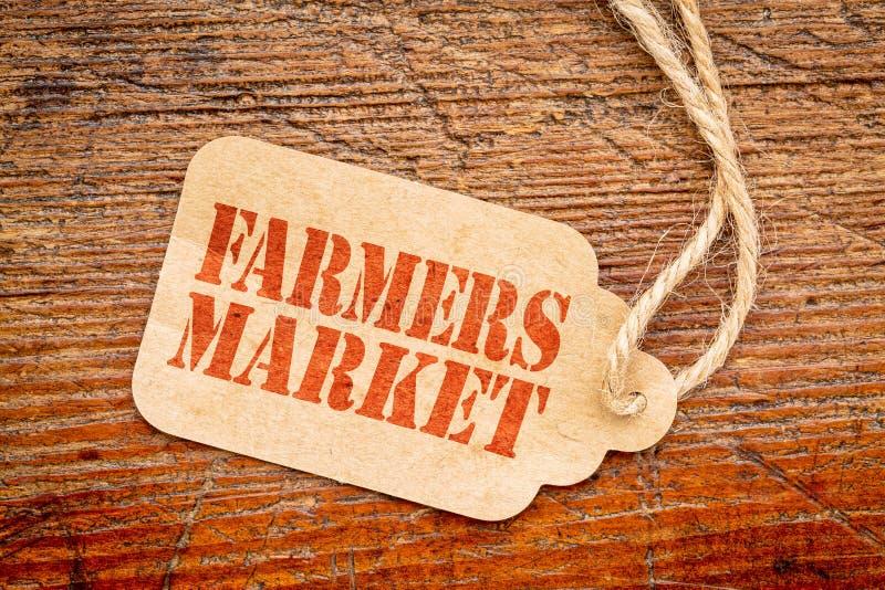 Tecken för bondemarknadsprisetikett royaltyfri bild