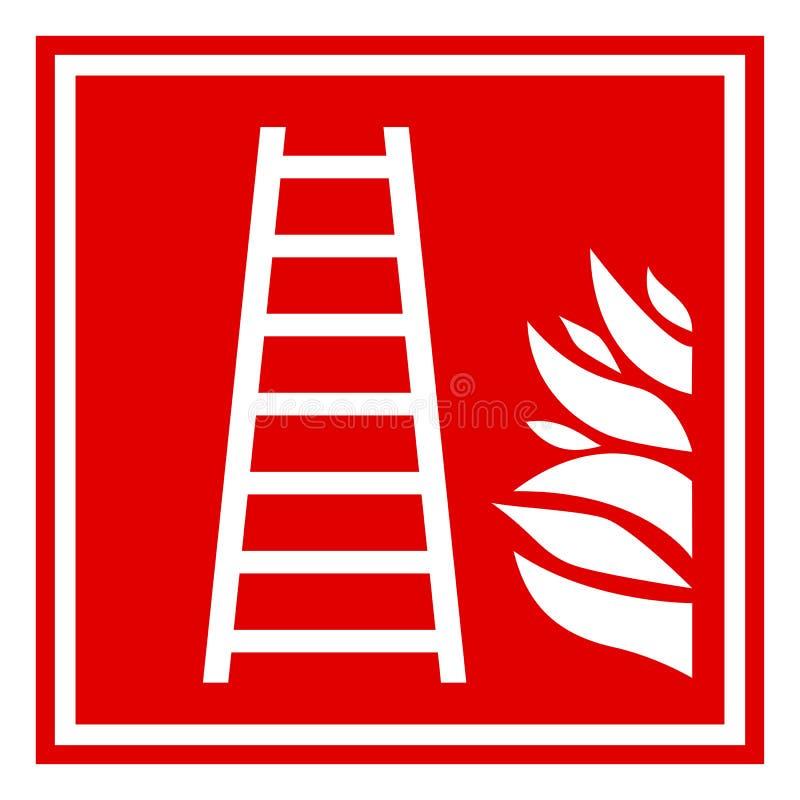 Tecken för brandstege stock illustrationer