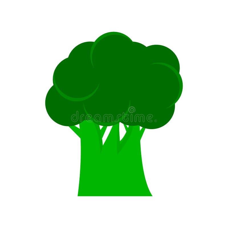 Tecken för broccolisymbolslägenhet vektor illustrationer