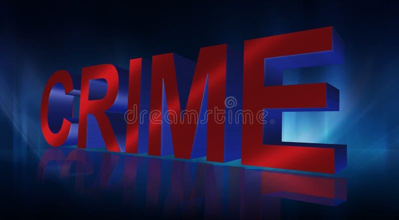 tecken för brott 3D royaltyfri illustrationer