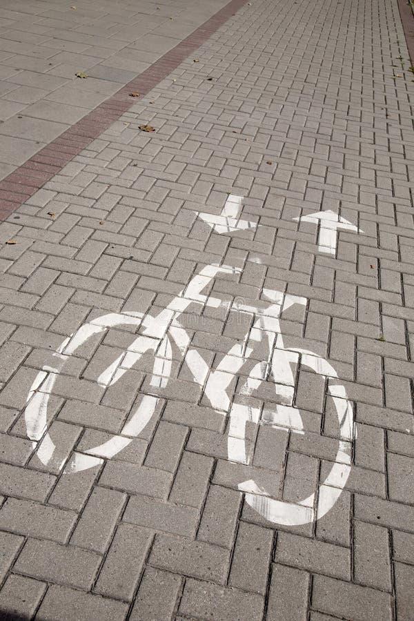 Tecken för cykelgränd arkivbilder