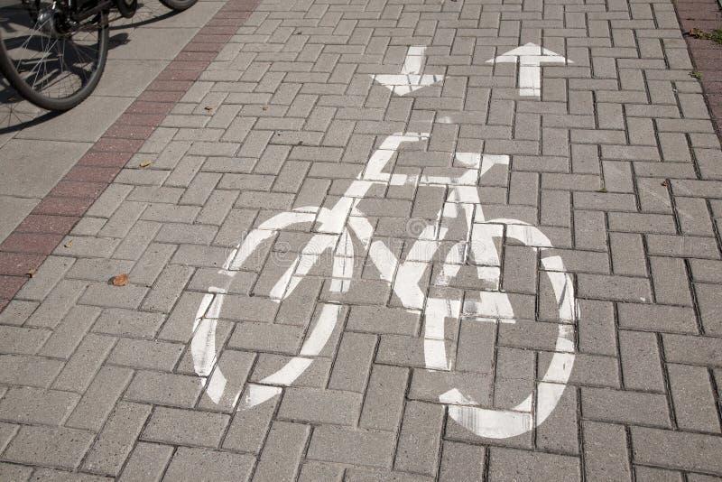 Tecken för cykelgränd royaltyfria bilder
