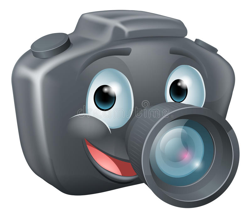 Tecken för DSLR-kameramaskot royaltyfri illustrationer