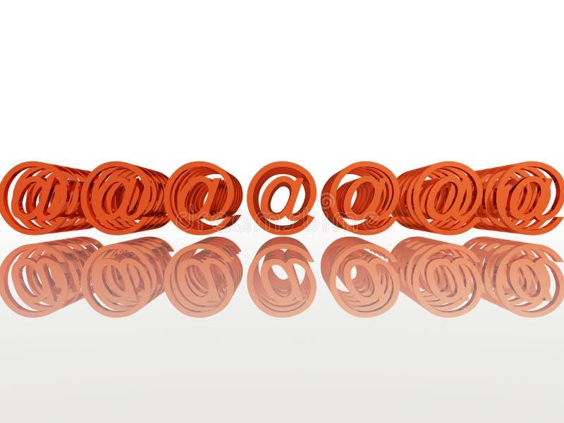 tecken för e-postinternetmultimple royaltyfri illustrationer