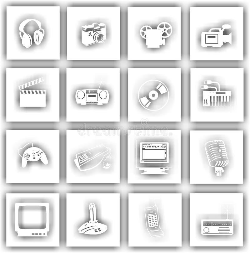 Tecken för elektronisk utrustning royaltyfri bild