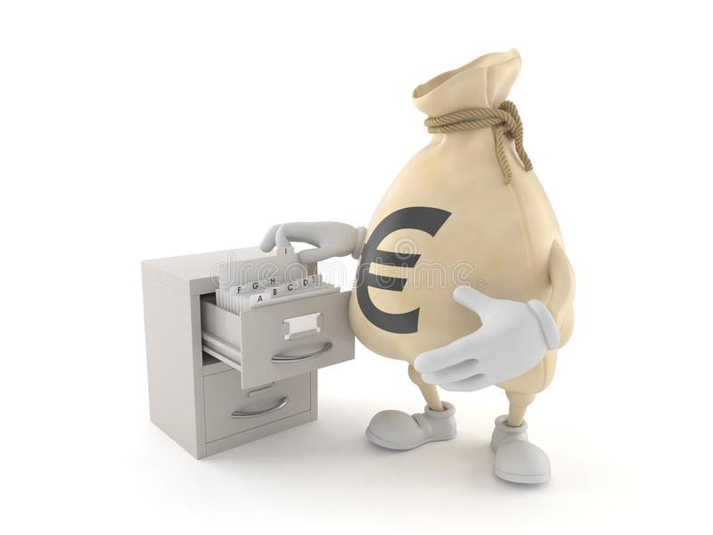 Tecken för europengarpåse med arkivet stock illustrationer