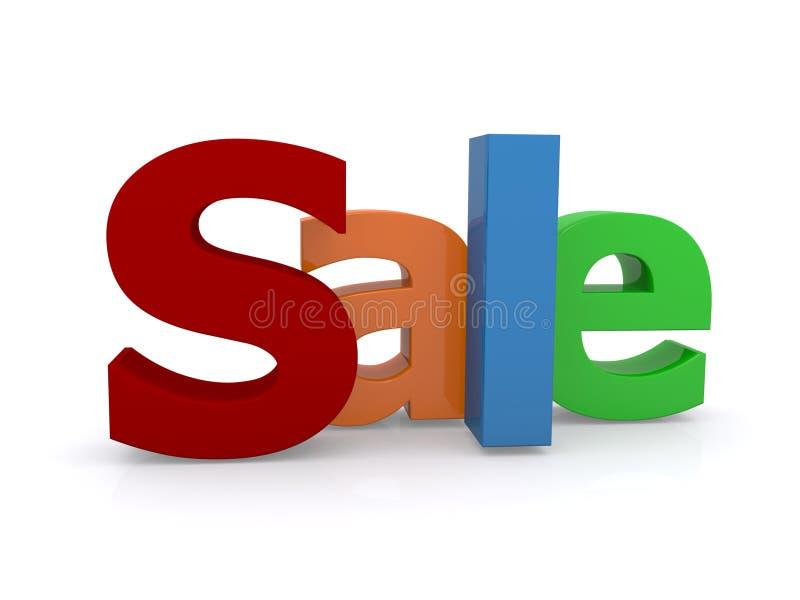 tecken för försäljning 3d stock illustrationer