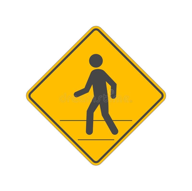 Tecken för fot- trafik som isoleras på vit bakgrund vektor illustrationer