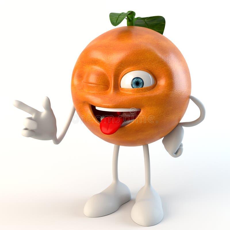 Tecken för frukt 3d för blinka roligt royaltyfri illustrationer