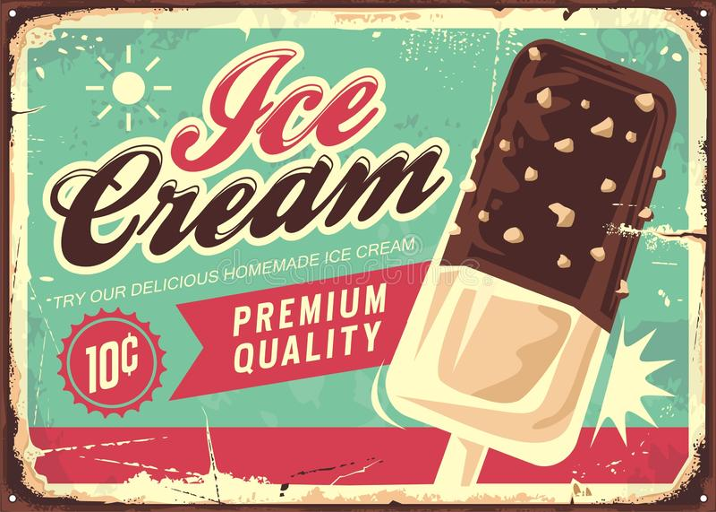 Tecken för glasstappningtenn stock illustrationer