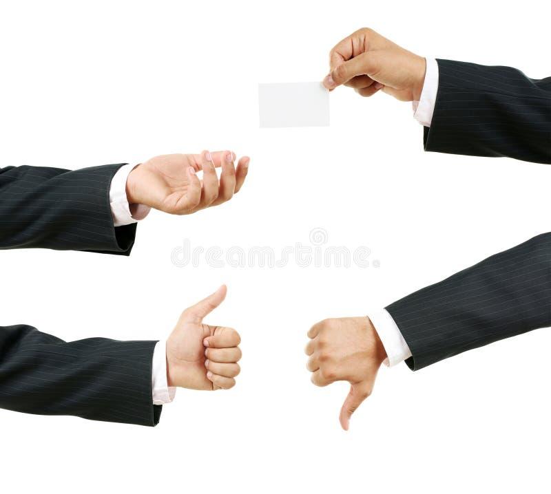 tecken för hand för gruppaffärsmankontroll arkivbilder