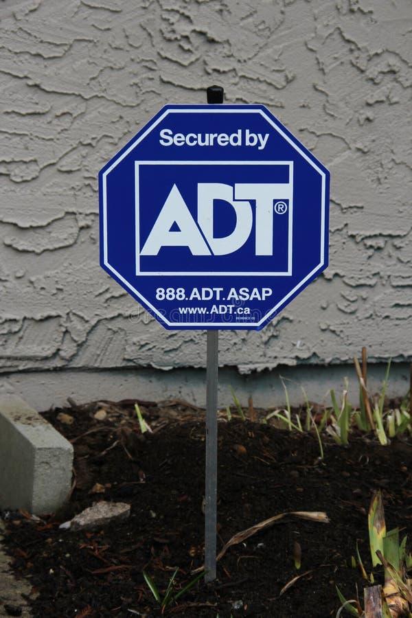 Tecken för hem- säkerhet royaltyfri foto