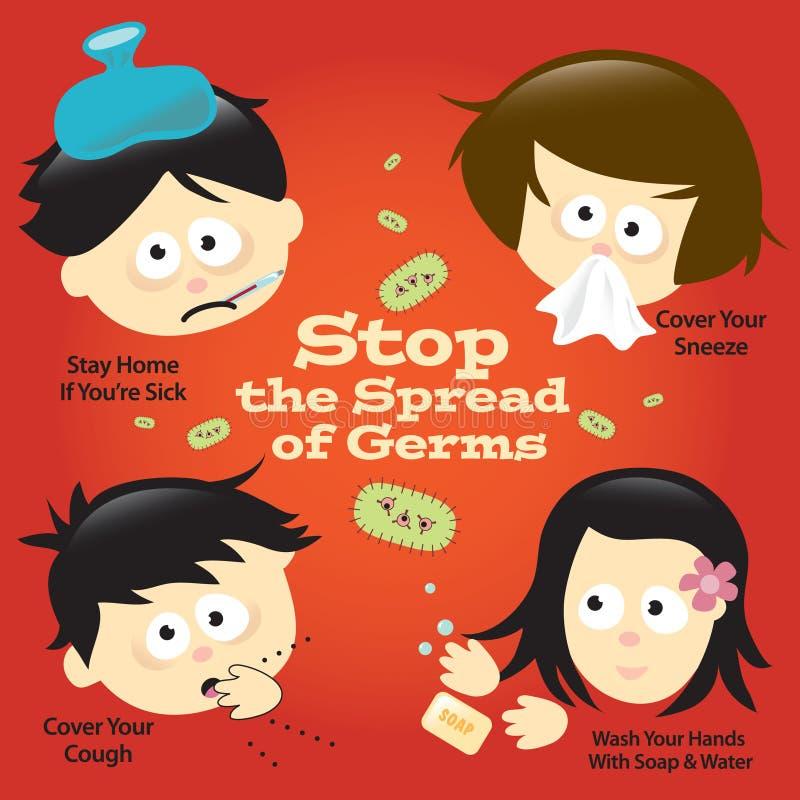 tecken för influensaaffischförhindrande stock illustrationer