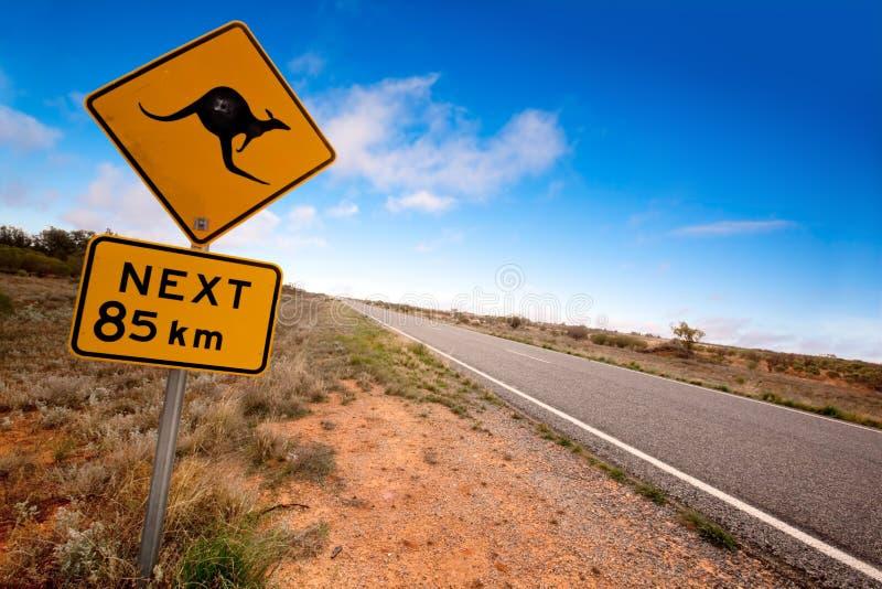 tecken för känguru outback arkivbilder