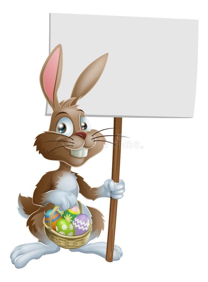 tecken för kanin för kanineaster holding royaltyfri illustrationer