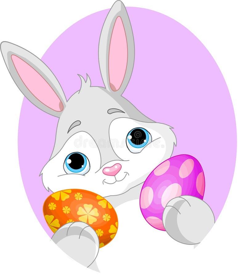 tecken för kanineaster ägg royaltyfri illustrationer