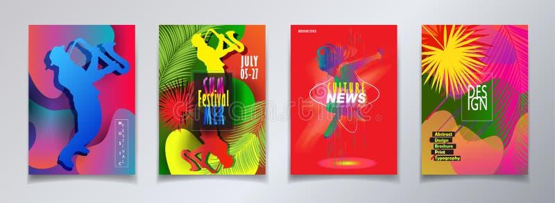 Tecken för karneval för festival för Hello sommaraffisch royaltyfri illustrationer