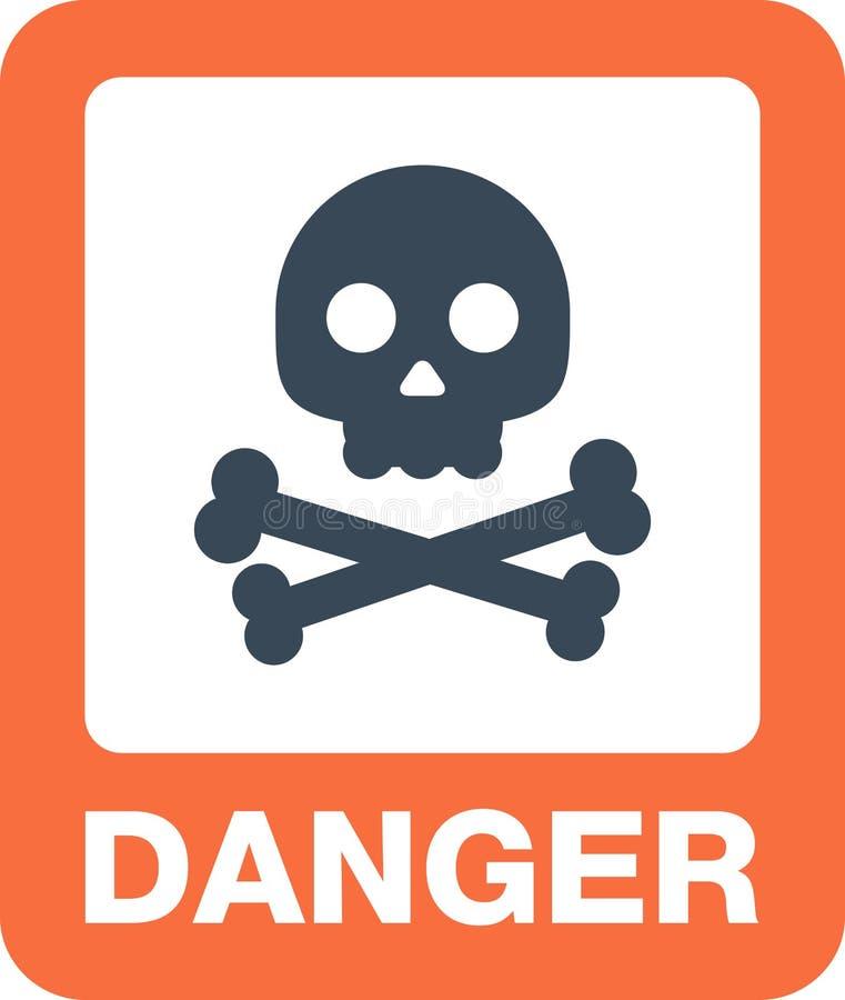 Tecken för knapp och för varning för uppmärksamhetsymbolsfara stock illustrationer